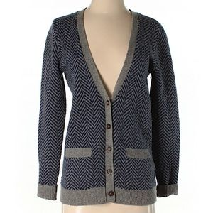 Madewell Blue and Gray Cardigan